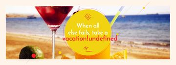 Vacation Offer with Cocktail at the Beach
