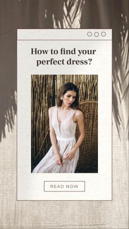 Wedding Dresses Ad with Beautiful Bride Instagram Story – шаблон для дизайна