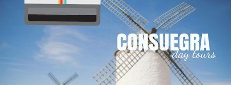 Modèle de visuel Consuegra Windmill Travelling Spots - Facebook Video cover