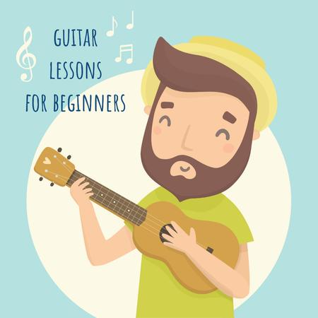 Guitar lessons for Beginners Instagram Design Template