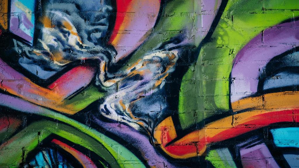Wall with Colorful Graffiti — Створити дизайн
