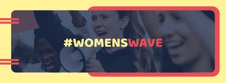 Ontwerpsjabloon van Facebook cover van Women's Day with Women on Demonstration