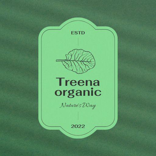 Organic Shop Offer With Leaf Illustration
