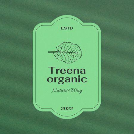 Organic Shop Offer with Leaf Illustration Logo – шаблон для дизайну