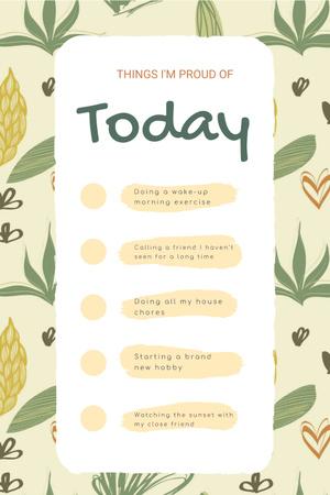 Plantilla de diseño de Check list for Day to be Proud of Pinterest