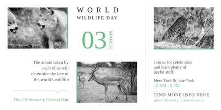Ontwerpsjabloon van Image van World Wildlife Day Animals in Natural Habitat