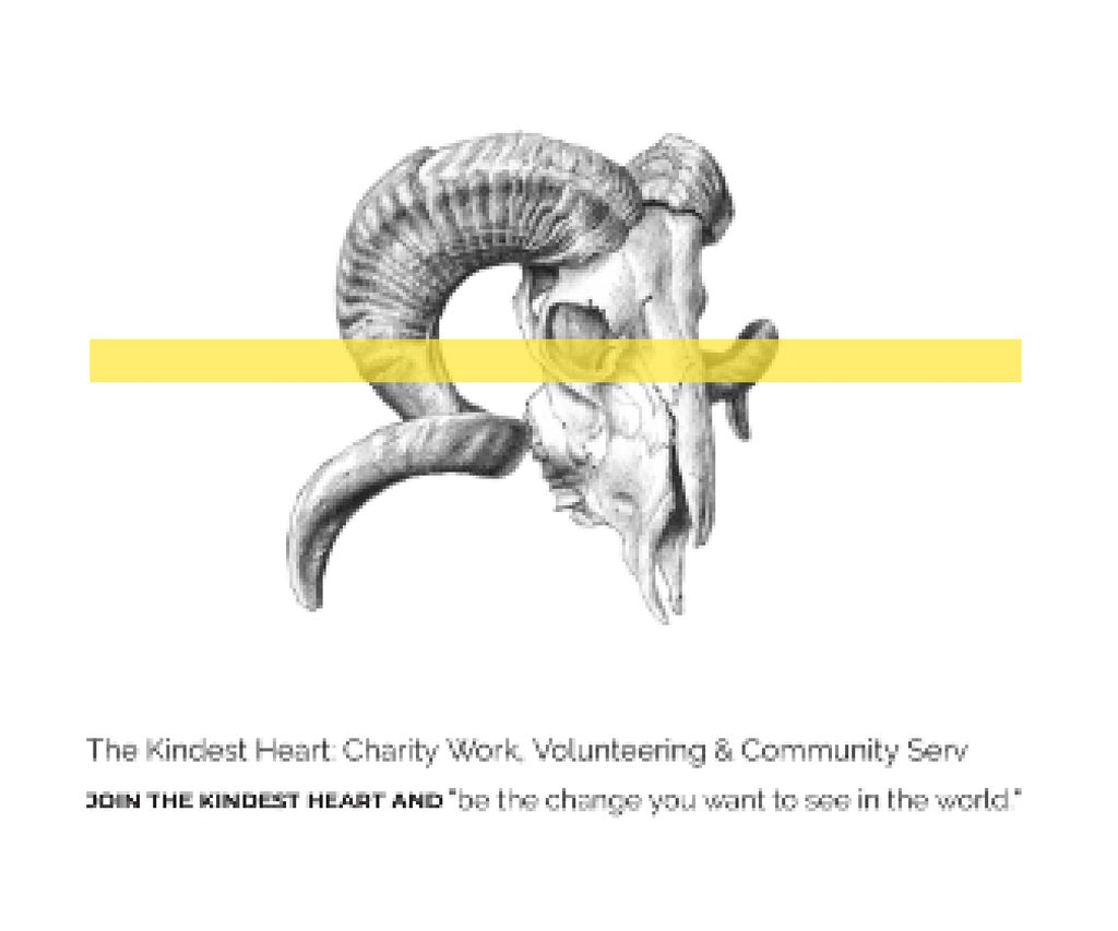 The Kindest Heart: Charity Work Large Rectangle Tasarım Şablonu