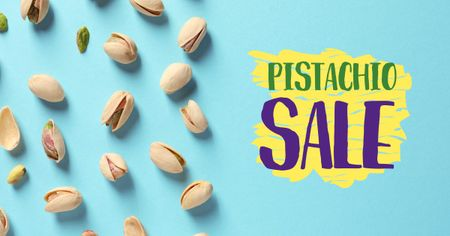 Pistachio nuts for Sale Facebook AD Design Template