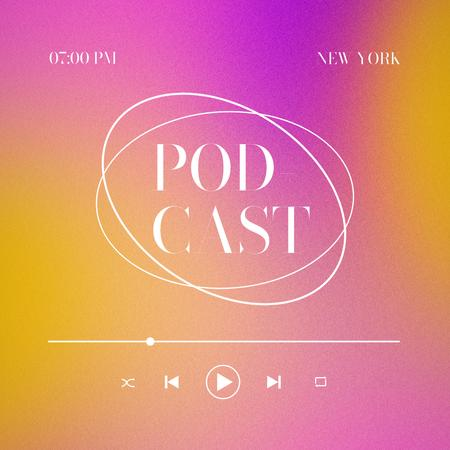 Podcast Topic Announcement with Colorful Gradient Instagram – шаблон для дизайну