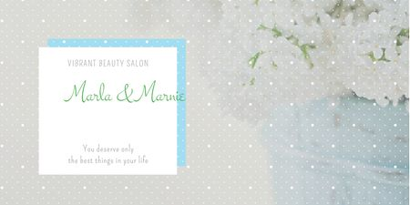 Ontwerpsjabloon van Twitter van Beauty salon advertisement