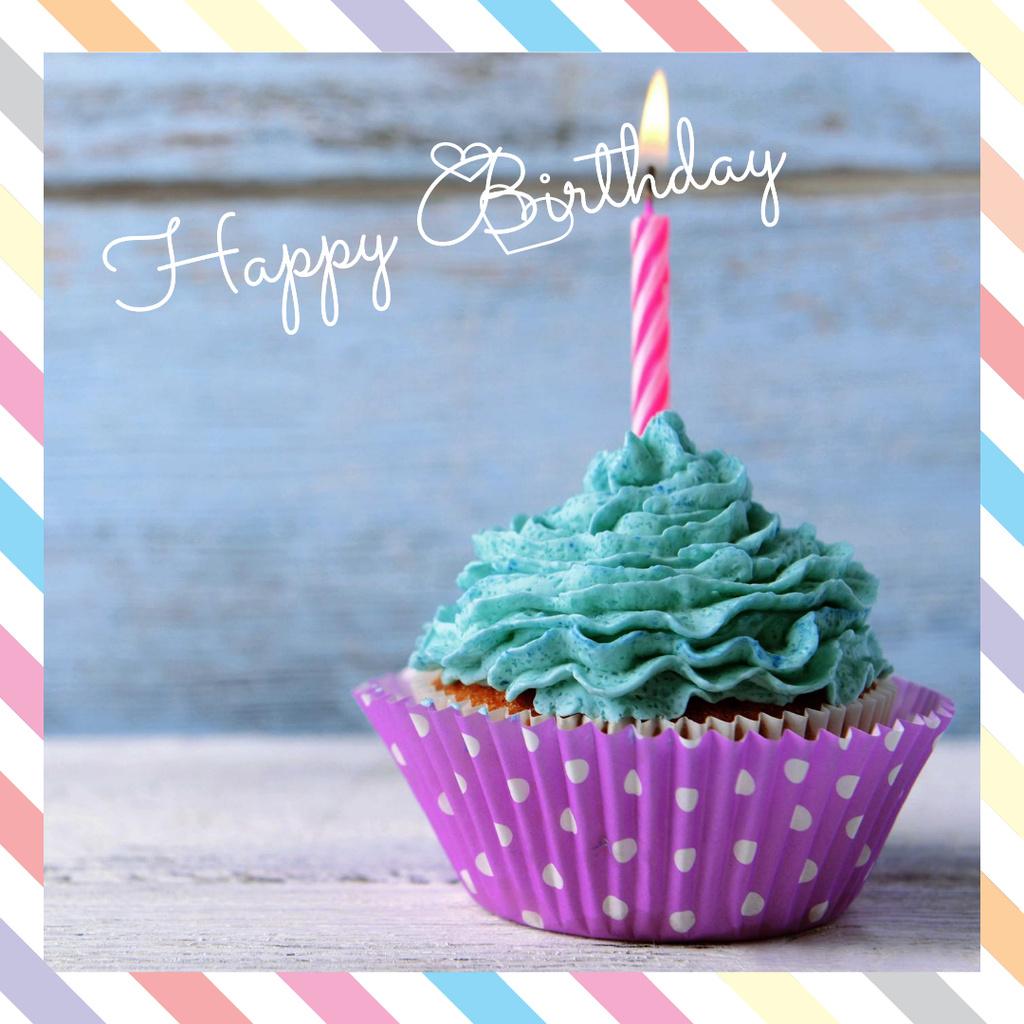 Birthday Greeting card with Sweet Cake — Crear un diseño