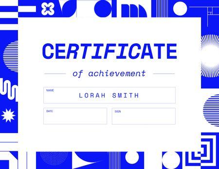 Achievement Award on Bright Pattern Certificate Modelo de Design