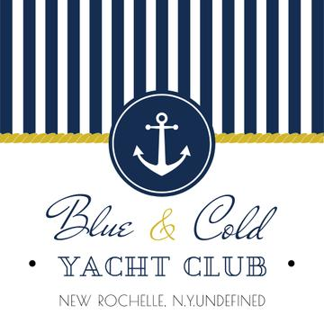 Yacht club Ad with Anchor