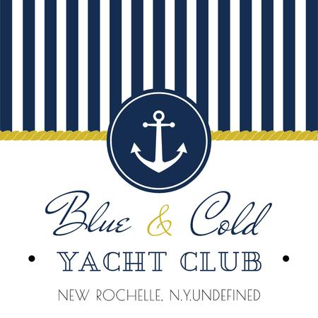 Yacht club Ad with Anchor Instagram Tasarım Şablonu