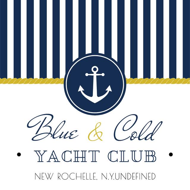 Szablon projektu Yacht club Ad with Anchor Instagram