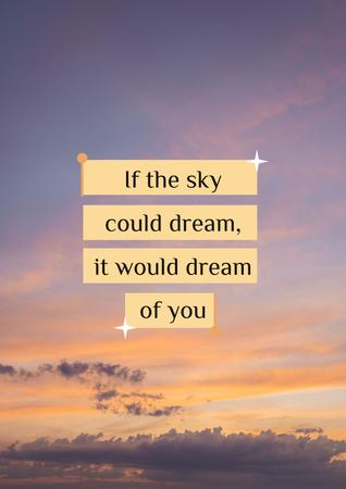 Dream Quote on sunset Sky Poster Design Template