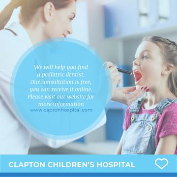 Children's hospital with Pediatrician examining Girl