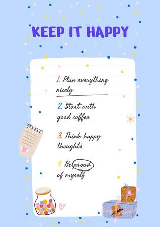 Designvorlage Mental Health Inspirational List für Poster