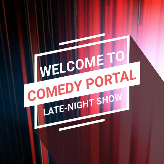 Comedy Show Annoucement with Red moving lines Animated Post – шаблон для дизайну