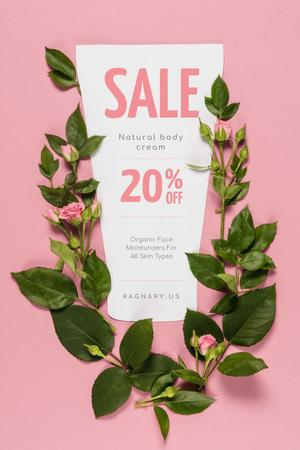 Natural Cosmetics Sale on Roses frame Pinterest – шаблон для дизайна