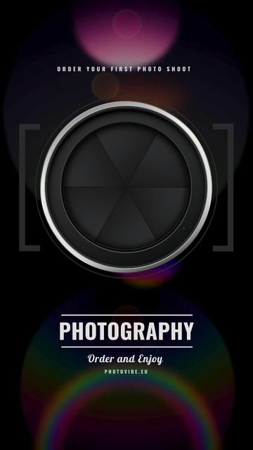 Photography Offer closing Shutter view Instagram Video Story Design Template