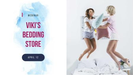 Girls jumping on bed FB event coverデザインテンプレート