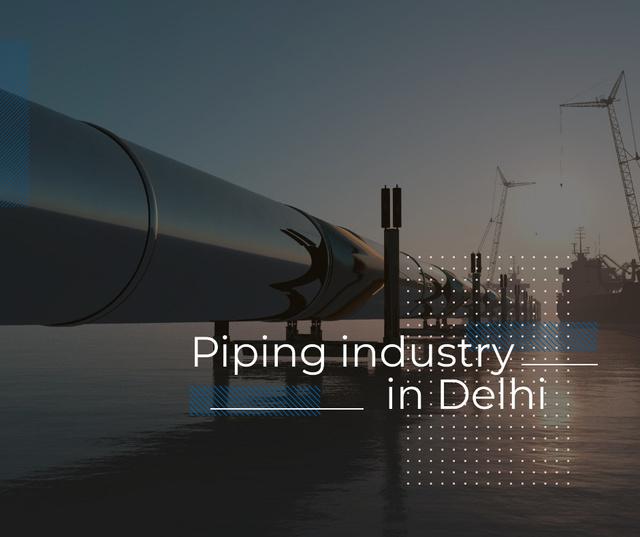 Piping industry poster Facebook Tasarım Şablonu