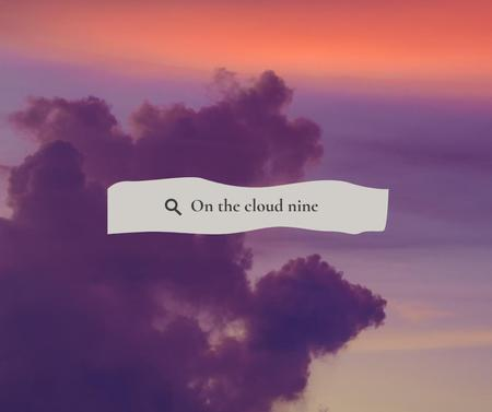 Plantilla de diseño de Inspirational Citation on Pink Cloudy Sky Facebook