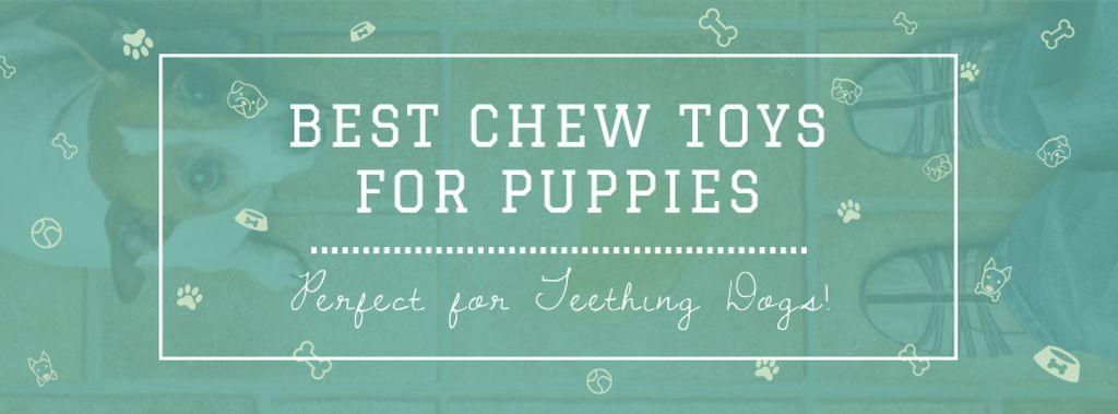 Szablon projektu Pet Toys ad with cute Puppy Facebook cover