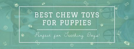 Szablon projektu Pet Toys ad with cute Puppy Facebook cover