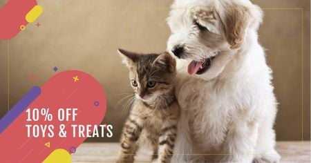 Szablon projektu Toys and Treats for Pets Offer Facebook AD