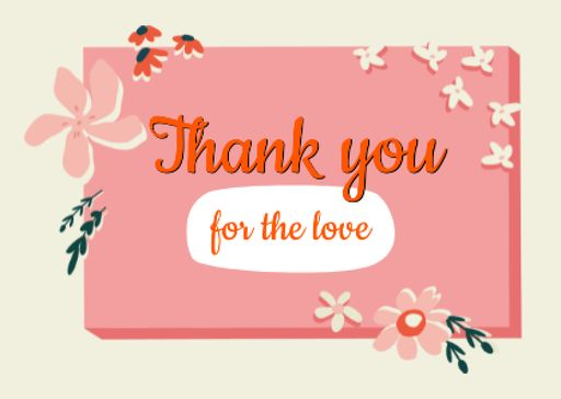 Thankful Phrase With Flowers Illustration