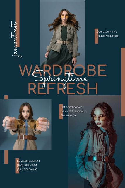 Woman in Stylish Outfit with accessories Tumblr Design Template