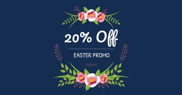 Easter Offer with Floral Wreath