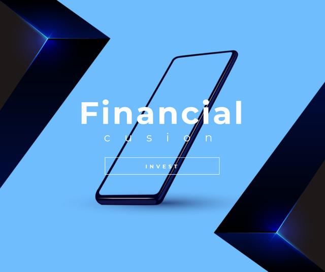Investment concept with Phone screen Facebook – шаблон для дизайну