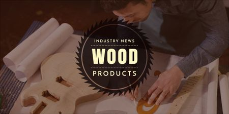 Template di design wood products advertisement banner Image