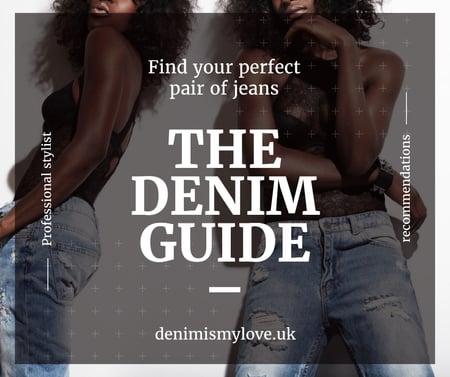 Women wearing Denim clothes Facebook – шаблон для дизайну