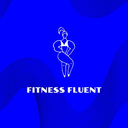 Gym Services Offer with Woman doing Fitness Logo Modelo de Design