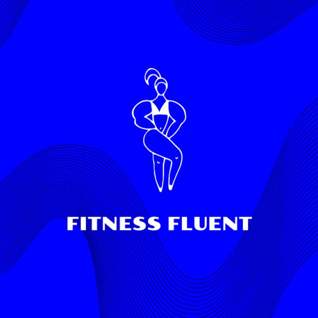 Gym Services Offer with Woman doing Fitness Logo – шаблон для дизайну