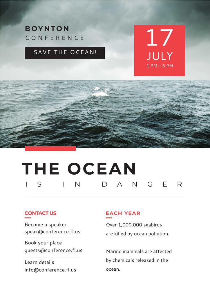 Boynton conference the ocean is in danger — Crea un design