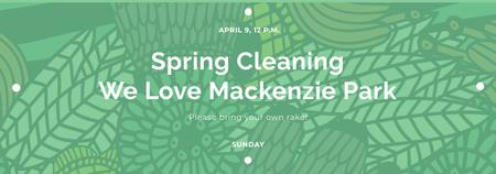 Spring Cleaning Event Invitation Green Floral Texture Tumblr Tasarım Şablonu