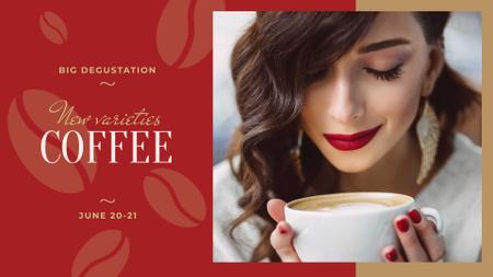 Ontwerpsjabloon van FB event cover van Woman holding coffee cup