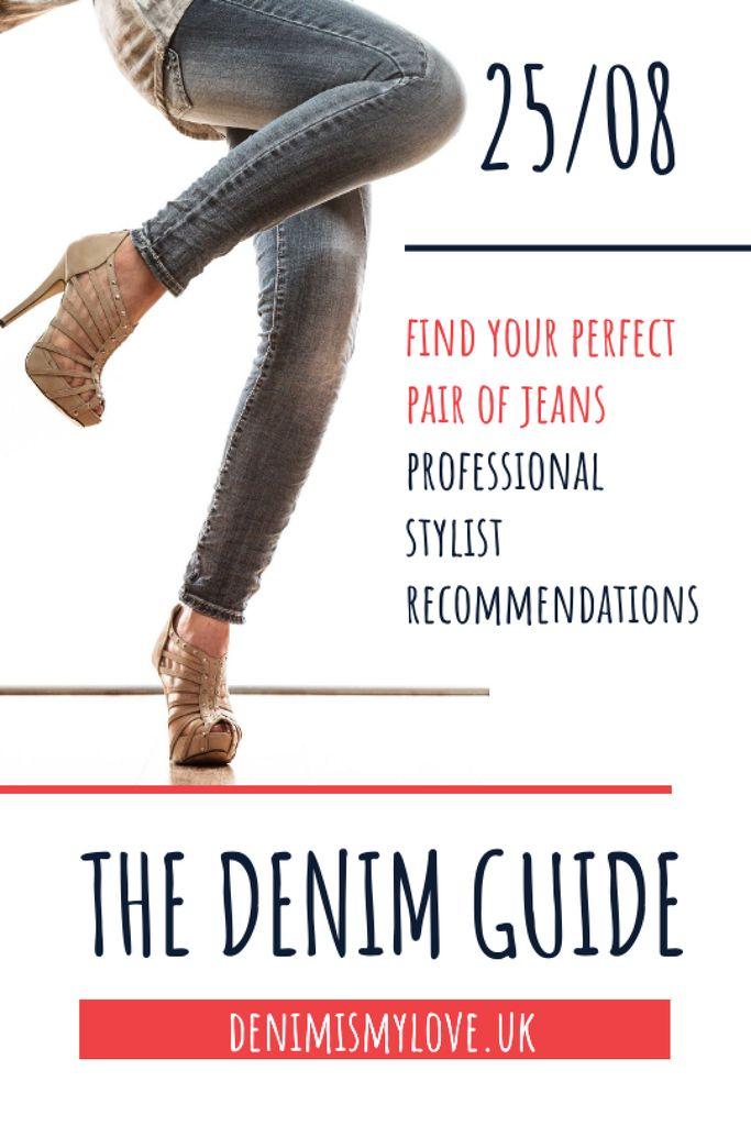 Woman wearing Denim clothes Tumblr – шаблон для дизайна