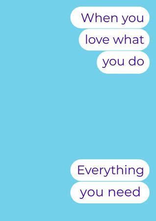 Inspirational Messages on Blue Poster Πρότυπο σχεδίασης
