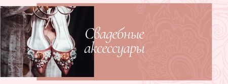 Wedding accessories Offer with Bridal Shoes Facebook cover – шаблон для дизайна