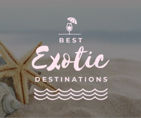 Modèle de visuel best  exotic destinations poster - Medium Rectangle