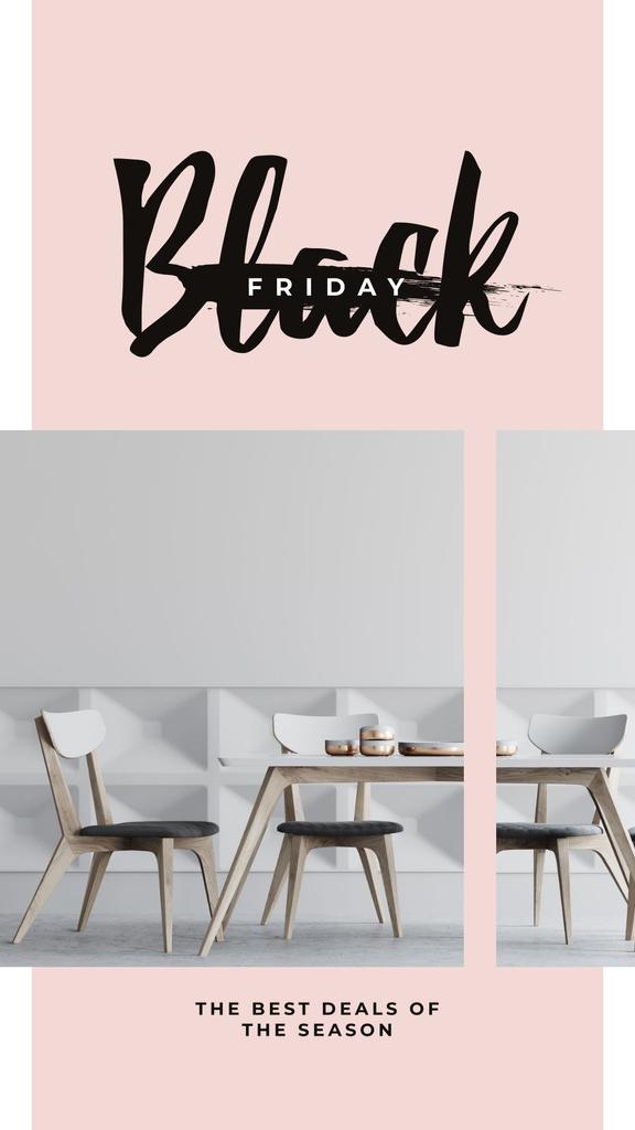 Black Friday Sale Stylish dining room interior — ein Design erstellen