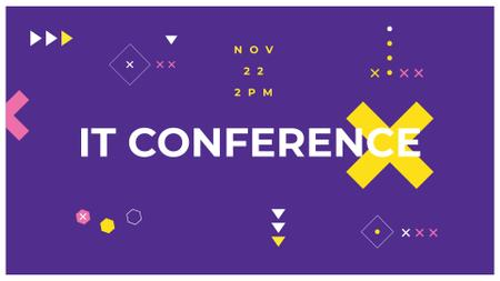Modèle de visuel IT Conference Announcement on purple - FB event cover