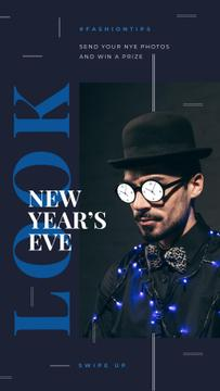 Man in clock glasses