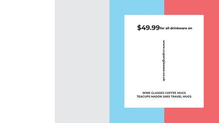 Plantilla de diseño de Shop Sale announcement on colorful Stripes Title